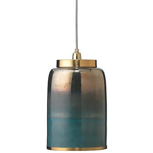 Medium Vapor Pendant, Antiqued Brass