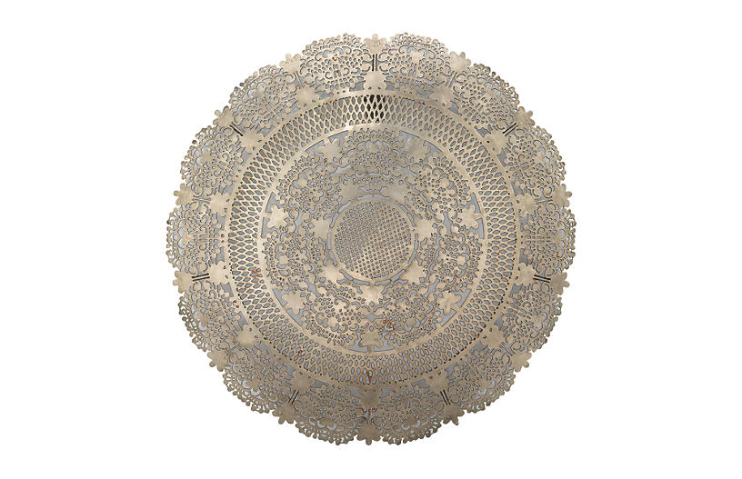 Penelope Lace Wall Art, Antiqued Silver