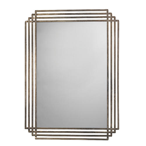 Serai Wall Mirror, Antiqued Silver