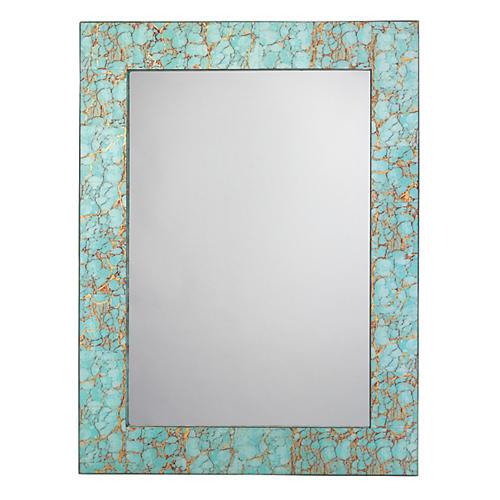 Pebble Oversize Mirror, Turquoise Pebble