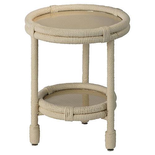 Delta Side Table, Beige