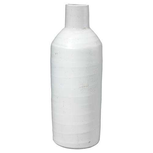 Dimple Vase, White