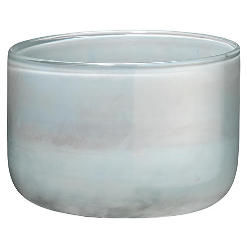 "7"" Vapor Small Vase, Metallic Opal"