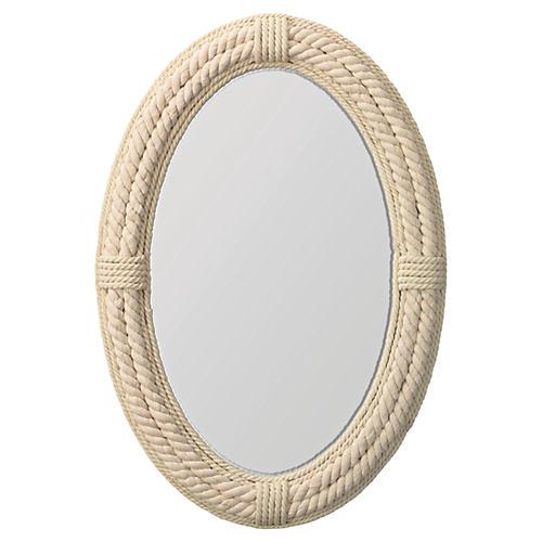 Delta Wall Mirror, Ivory