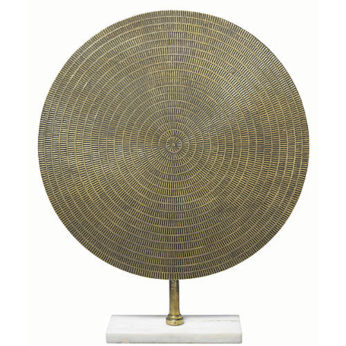 "30"" Cleopatra Large Sculpture, Antiqued Brass"