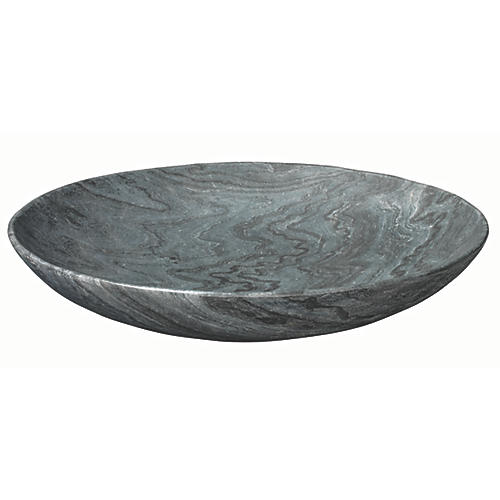 "24"" Extra-Large Marble Bowl, Gray"