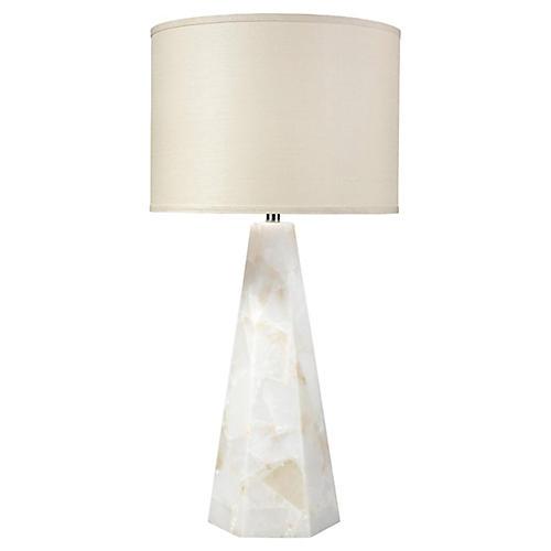 Borealis Hexagonal Table Lamp, Natural Alabaster