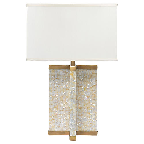 Axis Mother-of-Pearl Table Lamp, Natural