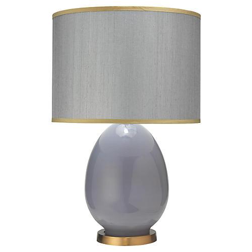 Egg Table Lamp, Dove Gray