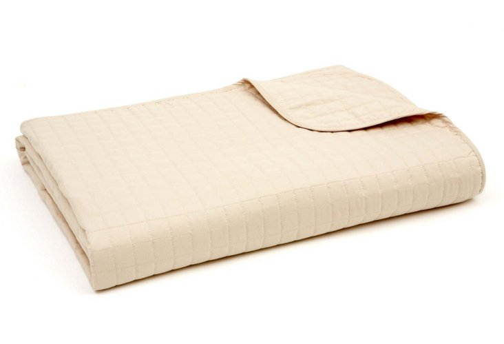 Sand Quilted Blanket, Twin