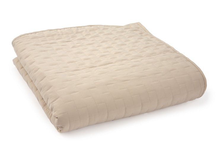 Twin Quilted Blanket, Sand