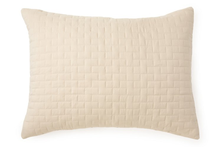 Quilted Madison Sham, Sand