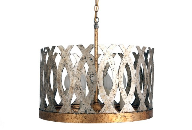 Ingrid Wide Chandelier in Silver