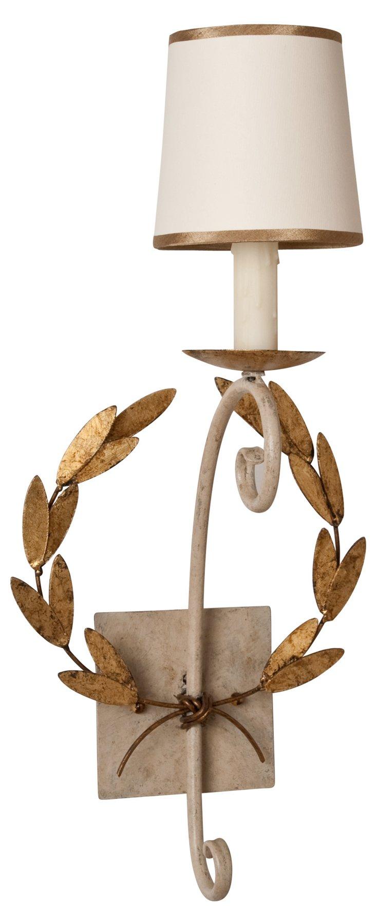 Wreath Sconce