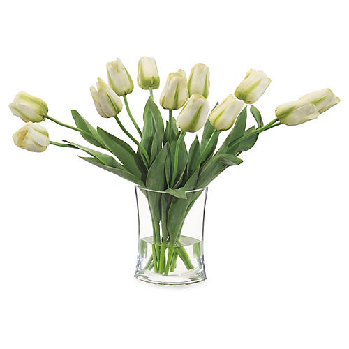 "27"" Simply Tulips in Vase, Faux"