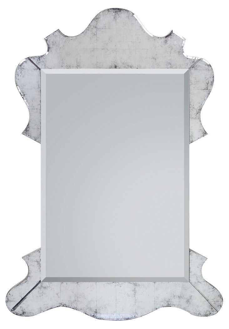 Garrett Grand Mirror, Antiqued