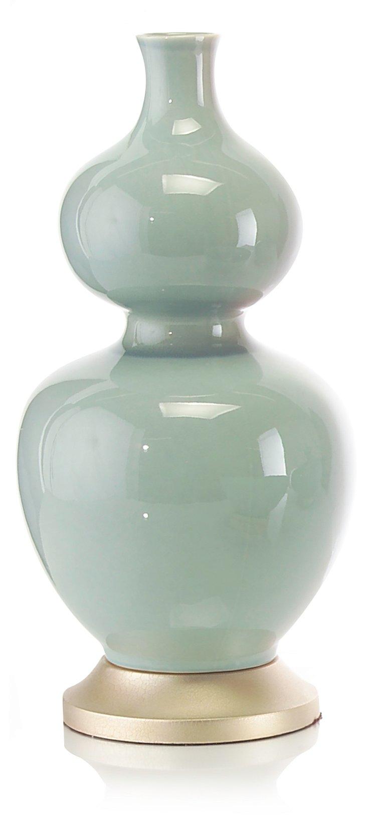 "21"" Gourd Vase, Sea Green"