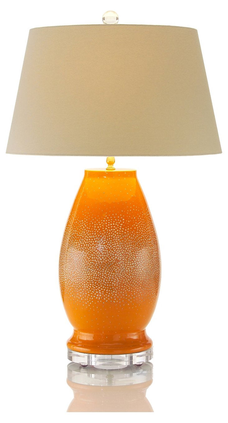 Sunburst Table Lamp, Orange