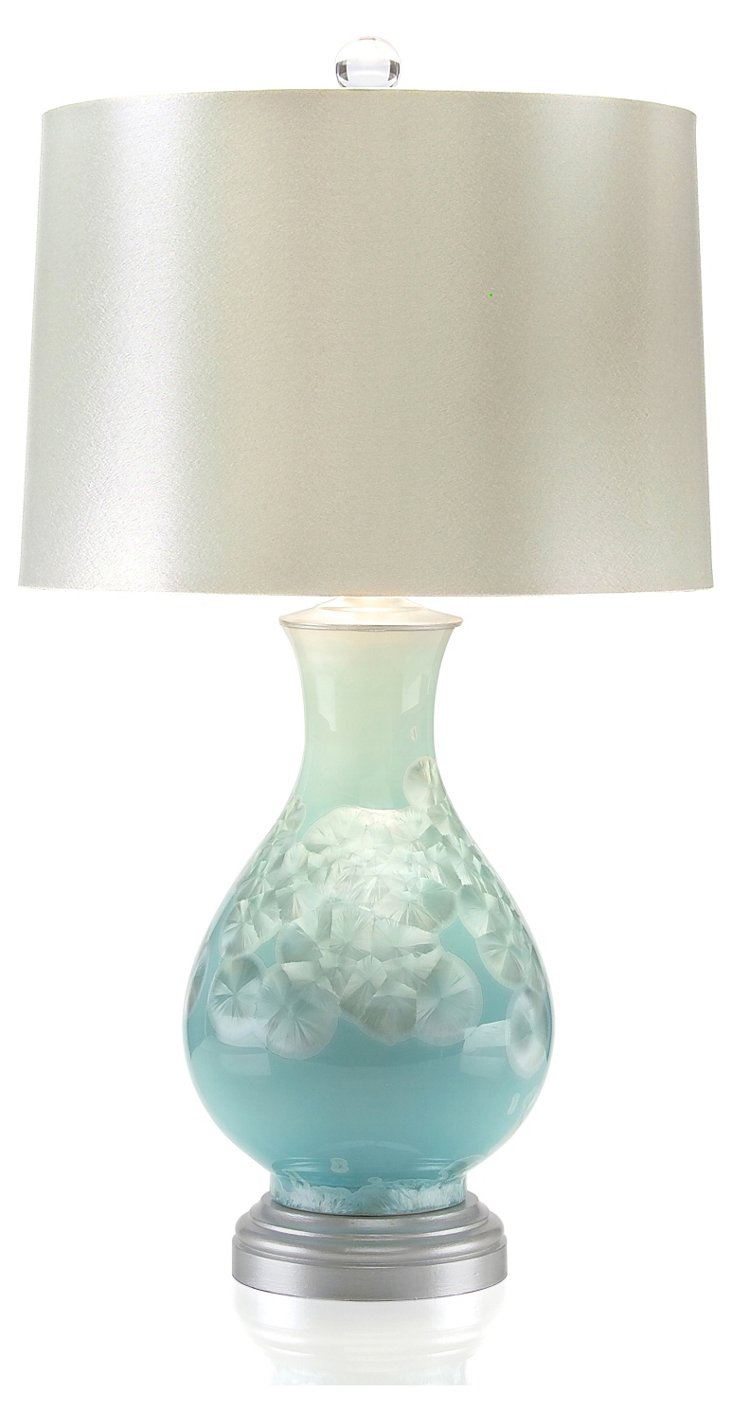 Pearl Table Lamp, Blue
