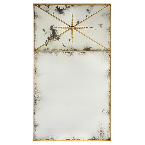 Janeiro Grand Mirror, Gilded Gold