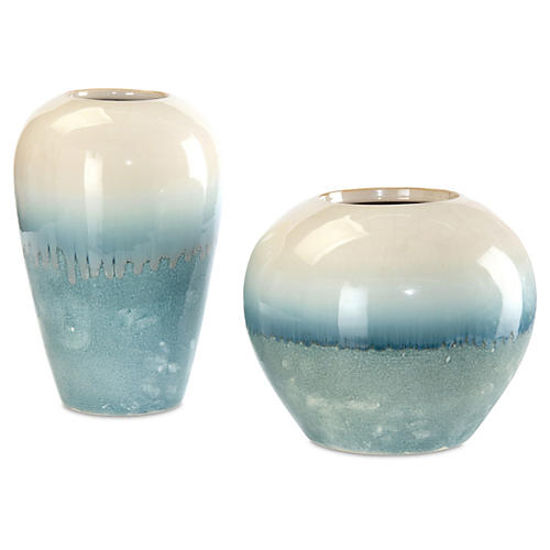 Asst. of 2 Classic-Shape Vases, Cream