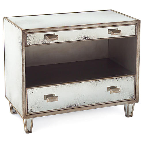 Samui Night Stand, Parisian Silver