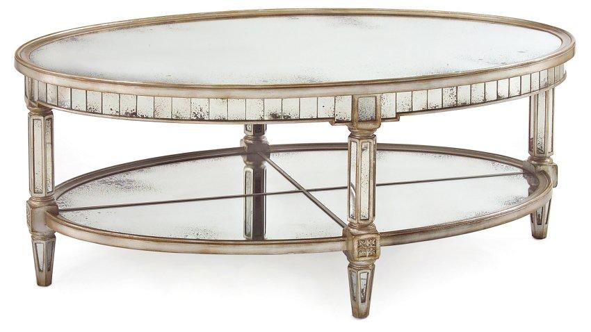 Keswick Oval Table Parisian Silver Coffee Tables Living Room