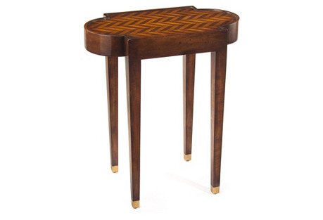 Herringbone Side Table, Walnut