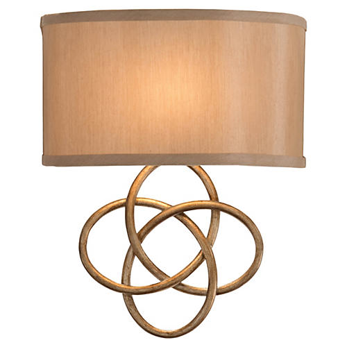 Infinity 1-Light Sconce, Antiqued Silver
