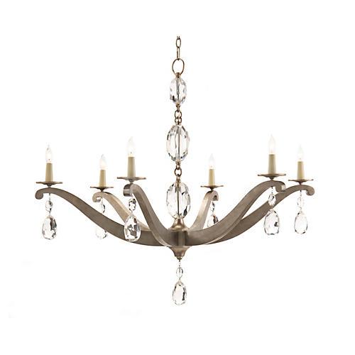 Elegance 6-Light Chandelier, Silver