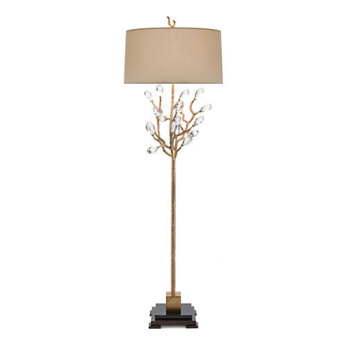 Budding Floor Lamp, Antiqued Gold