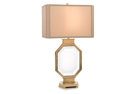 The Asscher Table Lamp, Brass