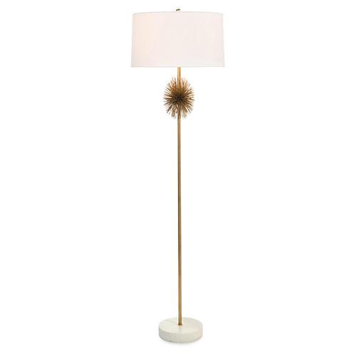 Starburst Floor Lamp, Brass