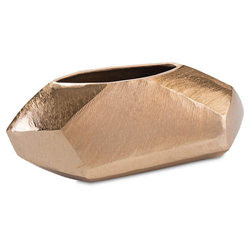 "12"" Angular Vase, Gold"