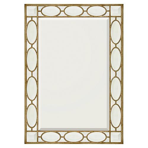 Schultz Floor Mirror, Gilded Silver