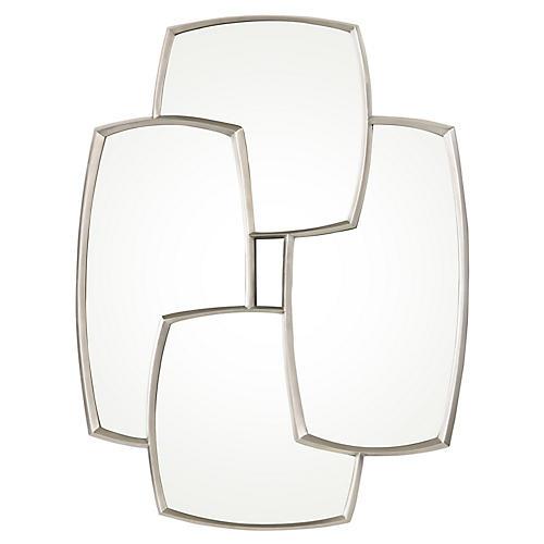 Padua Oversize Wall Mirror, Pewter