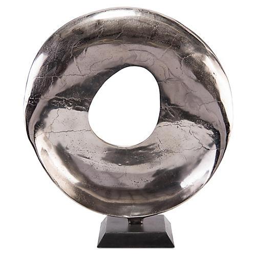 "25"" Stafford Sculpture, Silver/Black"