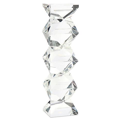 Ridan Crystal Candleholder, Clear