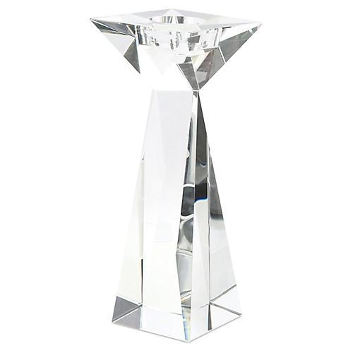 """12"""" Aluma Crystal Candleholder, Clear"""