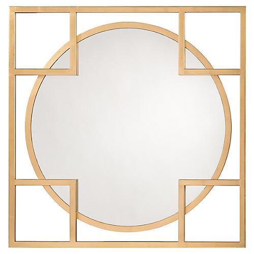 Alto Oversize Wall Mirror, Gold