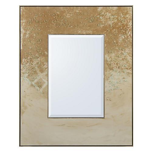 Bronze Floor Mirror, Aged Silver