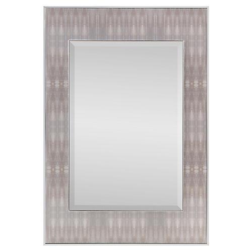 Dune Textile #3 Oversize Wall Mirror, Chrome