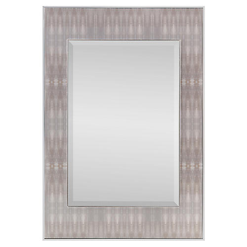 Dune Textile #3 Oversize Wall Mirror, Chrome