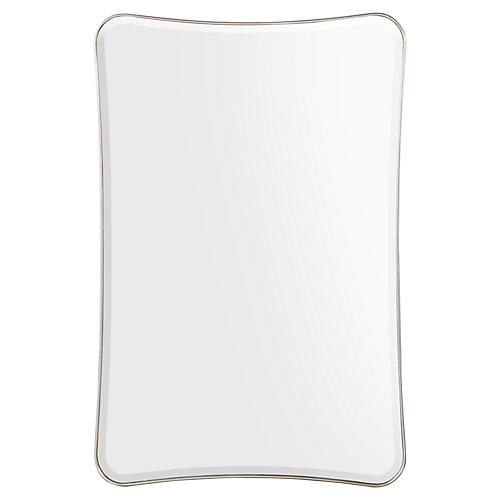 Moran Oversize Wall Mirror, Pewter