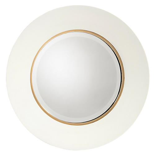 Portal Wall Mirror, Blanche/Gold