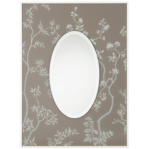 Shalimar Oversize Wall Mirror, Gray
