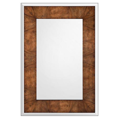 Xylo Floor Mirror, Walnut