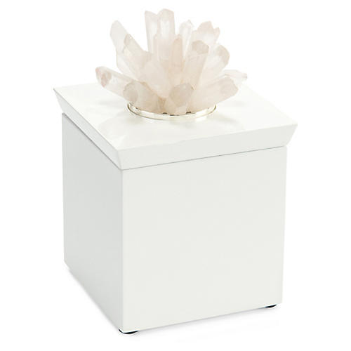 "9"" Quartz Box, White"