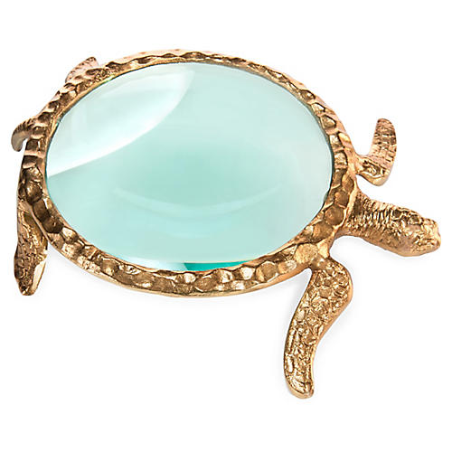 "12"" Turtle I Magnifying Glass, Gold"