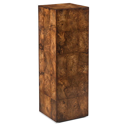 Block Pedestal, Walnut